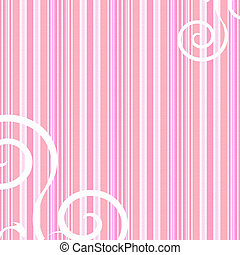 Pink and white striped background - Pink candy striped...