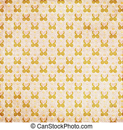 Peach orange flower dot retro background - Orange peach...
