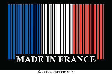 French barcode flag, vector