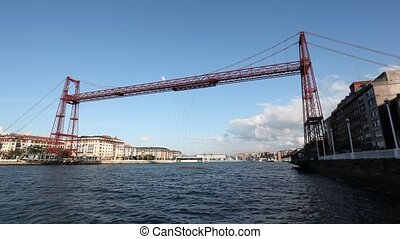 Vizcaya Bridge in Bilbao, Spain - Vizcaya Bridge or Puente...