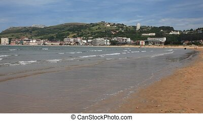 Beach of Laredo in Cantabria, Spain