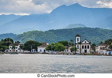Paraty Town - View of Paraty Town at Paraty, Rio do Janeiro,...