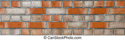 red brick wall  - red brick wall