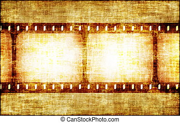 Artistic Grunge Backdrop with Film Rolls Art