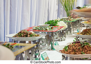 Buffet in party