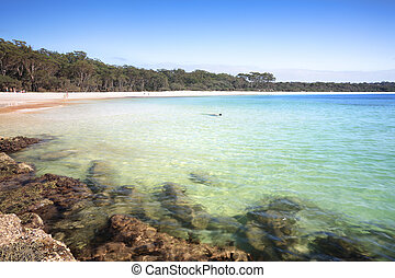 The Southern end of Green Patch Beach Australia