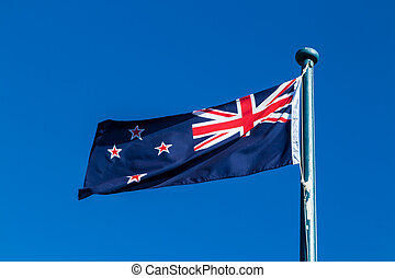 New Zealnd Flag - The flag on the country on New Zealand on...
