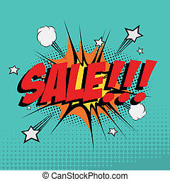 Big sale - Abstract big sale background with pop art styles