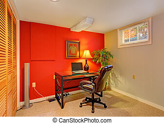 Office room in contrast bright colors - Small office room...