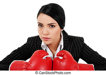 Tough Businesswoman - Stock image of businesswoman with...