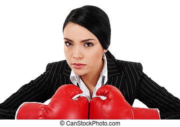 duro, mujer de negocios