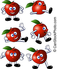 Apple character - Collection of fruit character