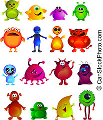 Cute little monster - Collection of cute little monster...