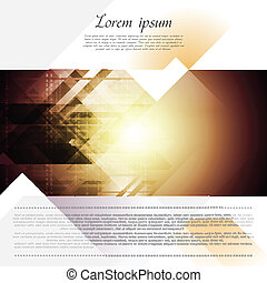 Hi-tech corporate flyer design - Hi-tech corporate vector...