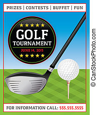 Golf Tournament Flyer - An illustration of a golf flyer...