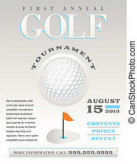 Minimal Golf Tournament Illustration - A minimal...