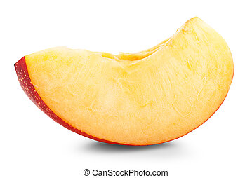 Nectarine fruit isolated on white background cutout....