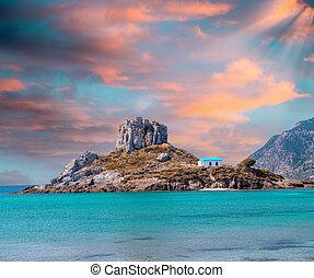 kefalos, miasto, wyspa,  (gr,  kastri, Mały,  Kos, Prospekt