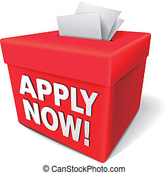 apply now for anything you want - the white word apply now...