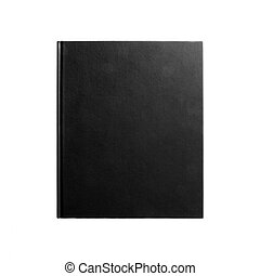 Black book isolated on white 2 - Black book Closed book is...