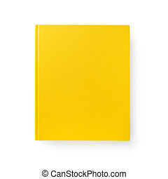 Yellow book isolated on white 1 - Yellow book Closed book is...
