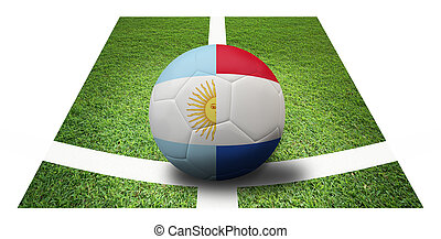 soccer Championship Final 4 teams round Argentina vs...