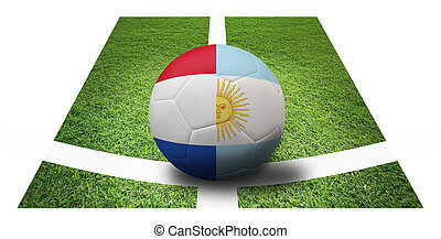 soccer Championship . Final 4 teams round. Argentina vs...