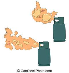 Liquid propane gas leak
