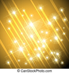 gold stars background - falling gold stars or meteorites...