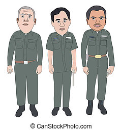 Security Officer - Vector illustration set of security...