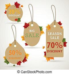 Vector Autumn Sale Tags