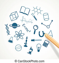 Vector Hand Drawn Science Icons