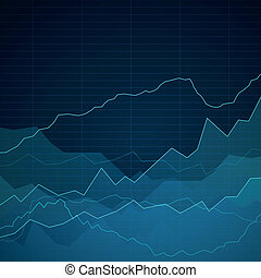 Vector Abstract Background with Graphs - Vector Illustration...