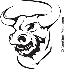 bull head in black interpretation, authour work