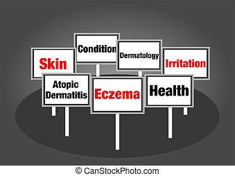 eczema, サイン