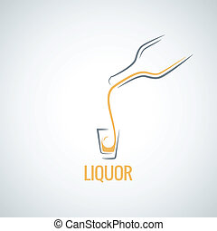 liquor shot glass bottle background 8 eps