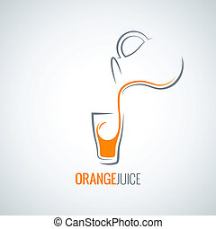 orange juice glass bottle background 8 eps