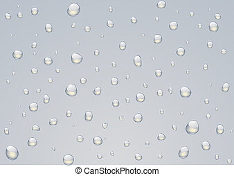 Rain drops -  illustration of Rain drops on a window.
