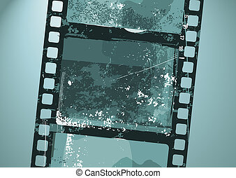 Grunge Film -  illustration of  Grunge Film pattern