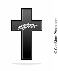 funeral - plain decoration for obituary, grave or funeral