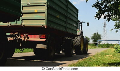 Agricultural tractor with trailers - ZRENJANIN, SERBIA -...