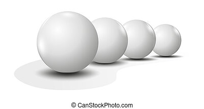 Lottery - blank lottery balls as metaphor for lottery