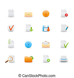 web icons - illustration - set of elegant simple icons for...