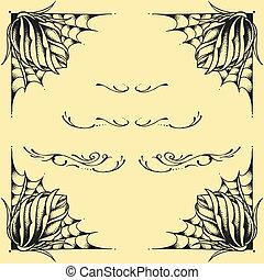 Roses frame oldskool Tattoo style d - Roses frame oldskool...