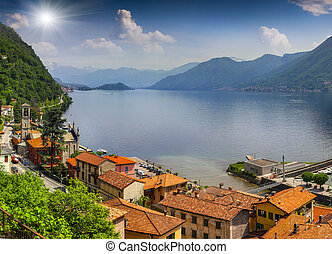 View from the town of Argegno, on Lake Como.
