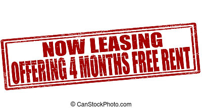 Now leasing - Stamp with text now leasing inside, vector...