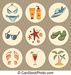 Summer elements for your design - Set of summer icons....