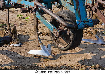 Agricultural machine on the field - Agricultural machinery...