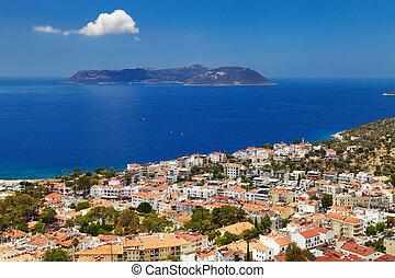 Town Kas, Turkey - Town Kas, Mediterranean Coast, Turkey