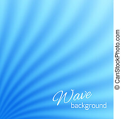 Blue abstract smooth light lines background. Vector...